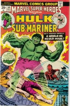 Comic: MARVEL Super-Heroes #50 HULK & SUB-MARINER (1975) Baseball cards value