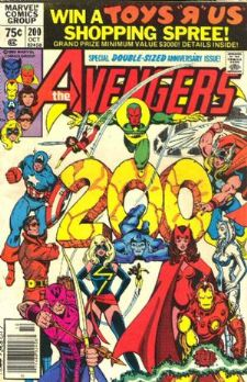 Comic: AVENGERS #200 (1980) DOUBLE-SIZED Anniversary Issue ! Baseball cards value