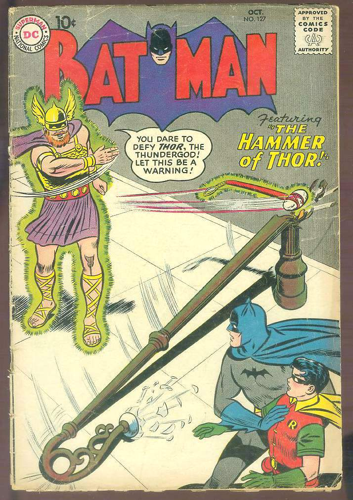 Comic: BATMAN #127 (1959) Baseball cards value