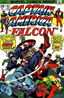 Comic: CAPTAIN AMERICA  and FALCON #181 Baseball cards value