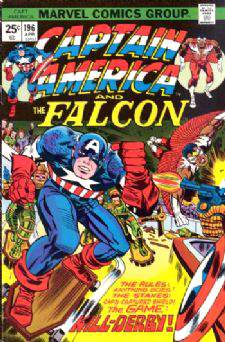 Comic: CAPTAIN AMERICA  and FALCON #196 Baseball cards value