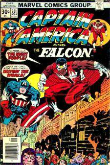 Comic: CAPTAIN AMERICA  and FALCON #201 Baseball cards value