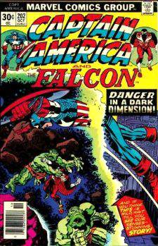 Comic: CAPTAIN AMERICA  and FALCON #202 Baseball cards value