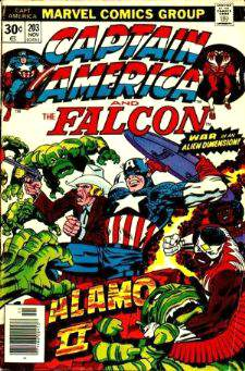 Comic: CAPTAIN AMERICA  and FALCON #203 Baseball cards value