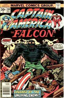 Comic: CAPTAIN AMERICA  and FALCON #204 Baseball cards value