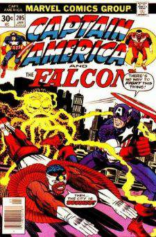 Comic: CAPTAIN AMERICA  and FALCON #205 Baseball cards value