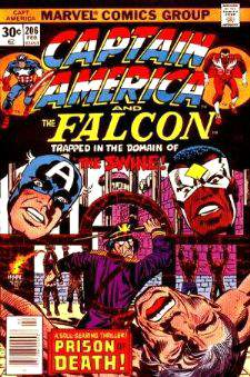 Comic: CAPTAIN AMERICA  and FALCON #206 Baseball cards value