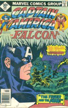 Comic: CAPTAIN AMERICA  and FALCON #207 Baseball cards value