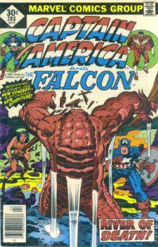 Comic: CAPTAIN AMERICA  and FALCON #208 Baseball cards value