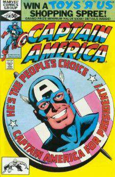 Comic: CAPTAIN AMERICA #250 'Captain America for President!' Baseball cards value