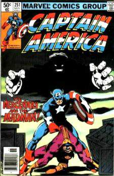 Comic: CAPTAIN AMERICA #251 (Byrne Art) Baseball cards value