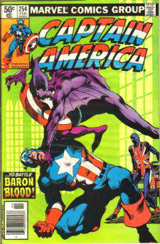 Comic: CAPTAIN AMERICA #254 (Byrne Art) Baseball cards value