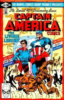 Comic: CAPTAIN AMERICA #255 (SPECIAL 40th Anniversary Issue) (Byrne Art) Baseball cards value