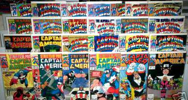 Comic: CAPTAIN AMERICA - LOT of (21) different (1984-90) Baseball cards value
