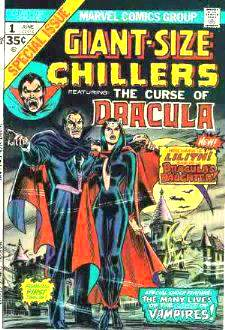 Comic: CHILLERS  GIANT-Size #1 'The Curse of Dracula' (1974) Baseball cards value