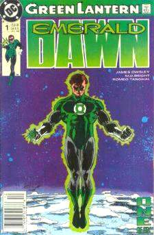 Comic: GREEN ARROW Emerald Dawn - RUN #1-#4 (4 comics) (1989) Baseball cards value