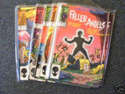 Comic: FALLEN ANGELS Limited Edition Series - COMPLETE SET of (8) (1987) Baseball cards value