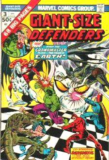 Comic: DEFENDERS  GIANT-Size #3 (1975) (Co-Starring HULK,DAREDEVIL...) Baseball cards value