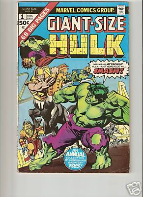 Comic: HULK  GIANT-Size #1 (1975) Baseball cards value