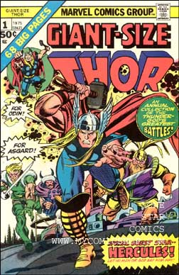 Comic: THOR  GIANT-Size #1 (1975) (w/Hercules) Baseball cards value