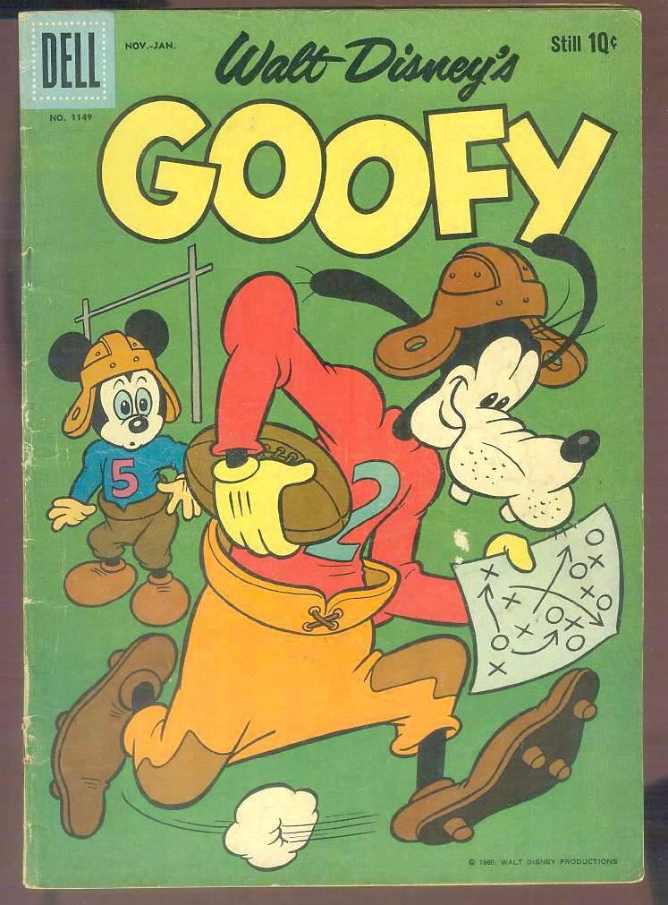 Comic: DELL Walt Disney's GOOFY #1149 (1961-10 cents!) Baseball cards value