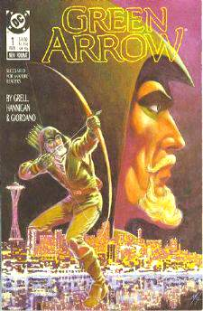 Comic: GREEN ARROW #1 Premier Issue (1988) Baseball cards value