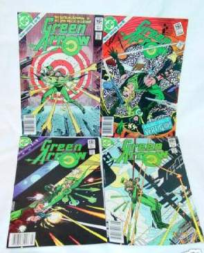 Comic: GREEN ARROW - Complete Mini Series #1/#2/#3/#4 (1983) Baseball cards value