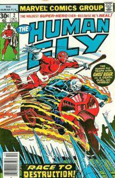 Comic: HUMAN FLY #2 w/Ghost Rider Cover (1990) Baseball cards value