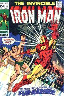 Comic: The Invincible IRON MAN #.25 w/The Sub-Mariner Baseball cards value