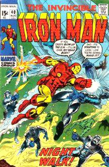 Comic: The Invincible IRON MAN #.40 Baseball cards value