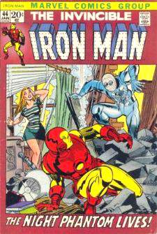 Comic: The Invincible IRON MAN #.44 Baseball cards value