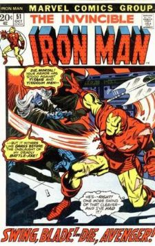 Comic: The Invincible IRON MAN #.51 Baseball cards value