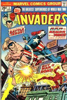 Comic: INVADERS #.3 (1975) Baseball cards value