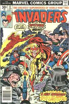 Comic: INVADERS #12 (1977) Baseball cards value