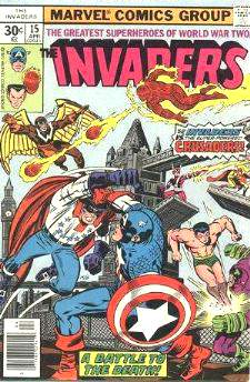 Comic: INVADERS #15 (1977) Baseball cards value