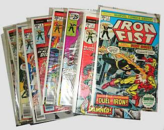 Comic: IRON FIST - COMPETE RUN #1-#15 (1975-1977) Baseball cards value
