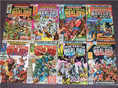 Comic: John Carter WARLORD of MARS #2-#13 - LOT of (6) different (1977-8) Baseball cards value