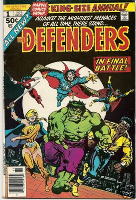 Comic: DEFENDERS  KING-Size ANNUAL #1 (1976) (Co-Starring HULK) Baseball cards value