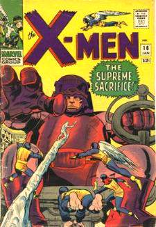 Comic: X-MEN  #.16 (Master Mold dies?) (12 cents-1966) Baseball cards value
