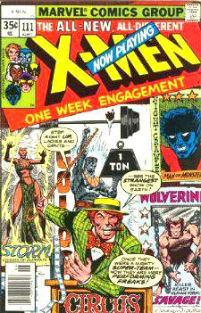 Comic: X-MEN  #111 (1978) Baseball cards value