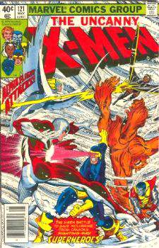 Comic: X-MEN  #121 w/Alpha Flight (1979) Baseball cards value