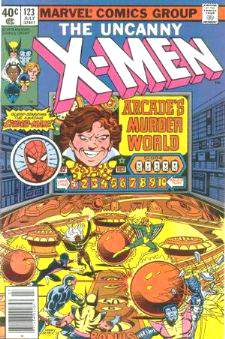 Comic: X-MEN  #123 w/Spider-Man (1979) Baseball cards value