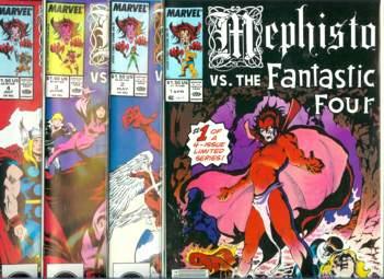 Comic: MEPHISTO vs ... - COMPLETE SET RUN of (4) (1987) Baseball cards value