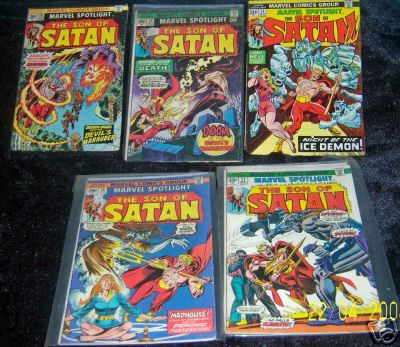 Comic: Marvel Spotlight #12-24 COMPLETE RUN 'SON of SATAN' (1972-74) Baseball cards value