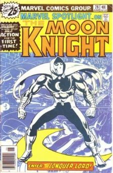 Comic: Marvel Spotlight #28 on The MOON KNIGHT (1976) Baseball cards value