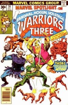 Comic: Marvel Spotlight #30 on WARRIORS THREE (1976) Baseball cards value