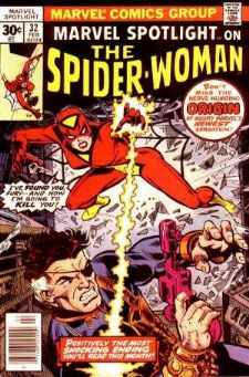 Comic: Marvel Spotlight #32 on The SPIDER-WOMAN (1977) Baseball cards value