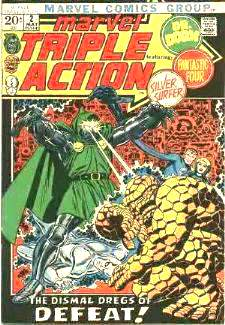 Comic: MARVEL TRIPLE ACTION #.2 (Fantastic 4,Silver Surfer,Dr Doom) (1972) Baseball cards value