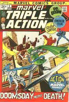 Comic: MARVEL TRIPLE ACTION #.3 (Fantastic 4,Silver Surfer,Dr Doom) (1972) Baseball cards value