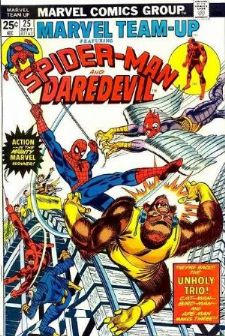 Comic: MARVEL TEAM-UP #.25 (SPIDER-MAN & DAREDEVIL) (1974) Baseball cards value